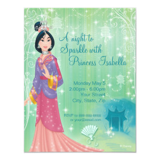 Mulan Birthday Invitation