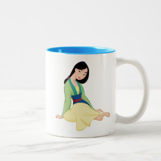 Mulan Sitting Two-Tone Coffee Mug