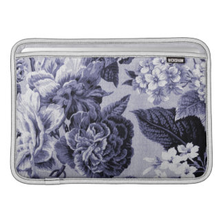 Mulberry Blue Purple Floral Toile No.1 MacBook Sleeve