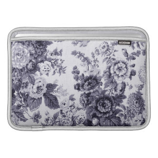 Mulberry Blue Purple Floral Toile No.3 Sleeve For MacBook Air