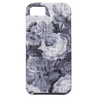 Mulberry Blue Purple Vintage Floral Toile No.4 iPhone 5 Cover