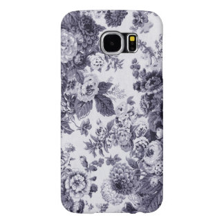 Mulberry Blue Vintage Floral Toile Fabric No.3 Samsung Galaxy S6 Cases