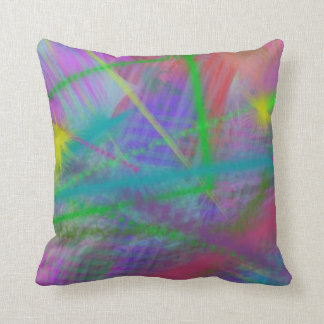 Mulberry Day Dream Pastel Color Ricochet Abstract Throw Pillow