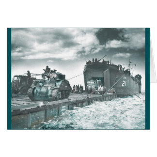 Mulberry Deep Water Harbor D-Day Card
