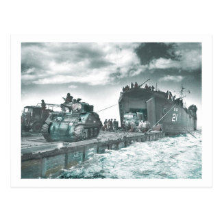 Mulberry Deep Water Harbor D-Day Postcard