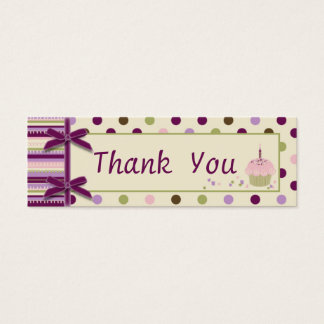 Mulberry Dot TY Skinny Gift Tag Mini Business Card
