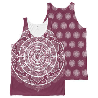 Mulberry Mandala All-Over-Print Tank Top