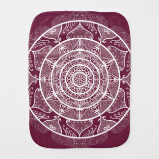 Mulberry Mandala Burp Cloth