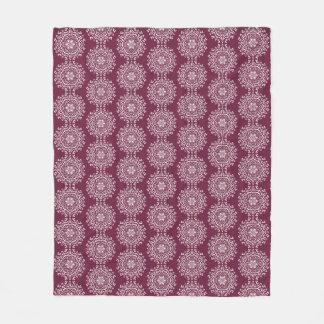 Mulberry Mandala Fleece Blanket
