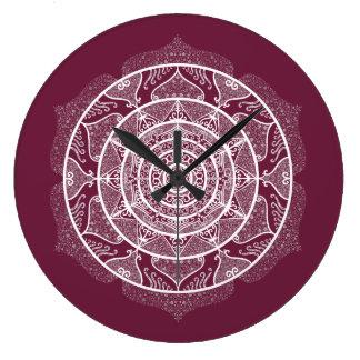 Mulberry Mandala Large Clock