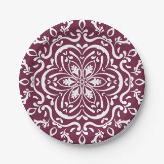 Mulberry Mandala Paper Plate