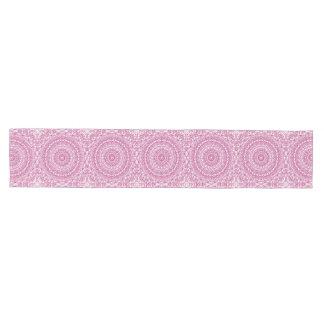 Mulberry Mandala Pink Kaleidoscope Design Medium Table Runner