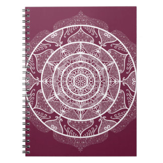 Mulberry Mandala Spiral Notebook