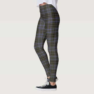 Mulberry Olive Black Large Tartan Plaid Vertical Leggings