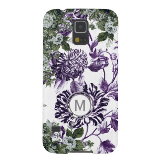 Mulberry Purple Profusion Floral Garden Monogram Galaxy S5 Cover