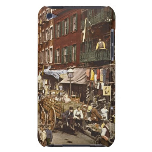 Mulberry Street Market New York City 1900 3 iPod Touch Cases