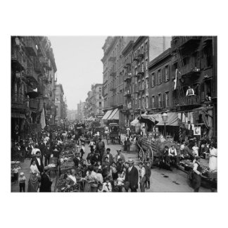 Mulberry Street, NYC, 1900 Poster