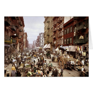 Mulberry Street NYC ca.1900 Card