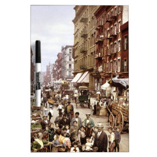 Mulberry Street NYC ca.1900 Dry-Erase Whiteboard