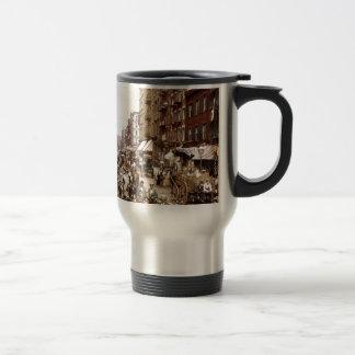 Mulberry Street NYC ca.1900 Travel Mug