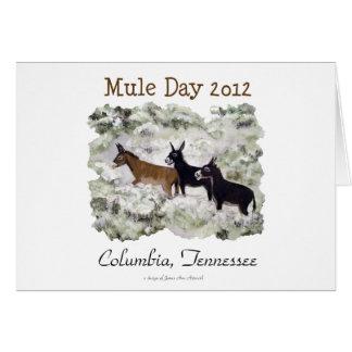 """Mule Day 2012: Columbia, Tn."" Horizontal Card"