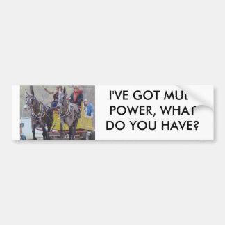 mule days_0078, I'VE GOT MULE POWER, WHAT DO YO... Bumper Sticker