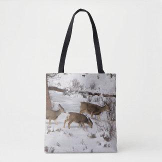 Mule Deer and Elk Tote Bag
