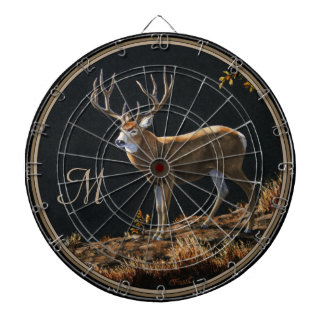 Mule Deer Buck Autumn Trophy Antlers Monogram Dartboard