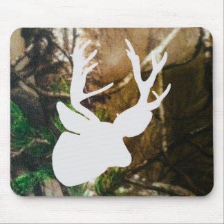 Mule Deer Buck on Camo Background Mouse Pad