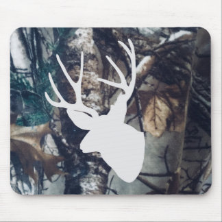 Mule Deer Buck On Camouflage Mouse Pad