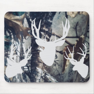 Mule Deer Bucks Mouse Pad on Camoflage
