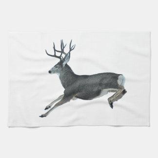 Mule deer motion hand towels
