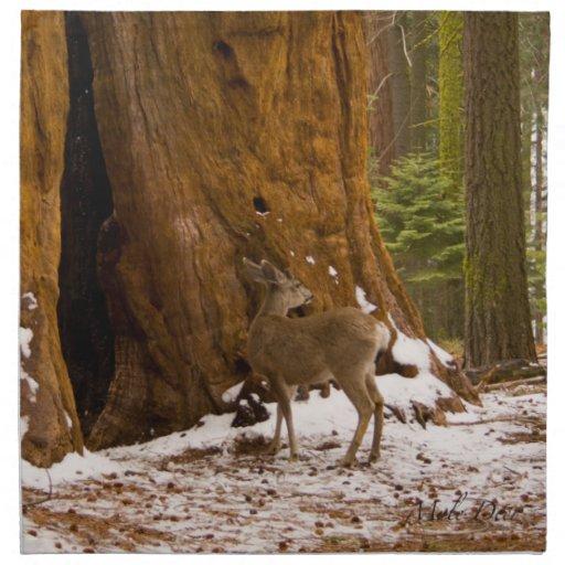 Mule Deer Cloth Napkin