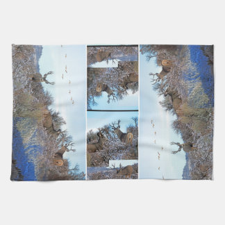 Mule deer photo art kitchen towel
