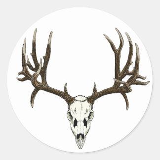Mule Deer skull Classic Round Sticker