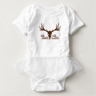 Mule Deer Skull Joshua Tree Icon Baby Bodysuit