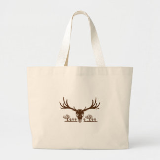Mule Deer Skull Joshua Tree Icon Large Tote Bag