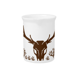 Mule Deer Skull Joshua Tree Icon Pitcher
