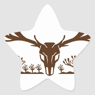 Mule Deer Skull Joshua Tree Icon Star Sticker
