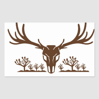 Mule Deer Skull Joshua Tree Icon Sticker