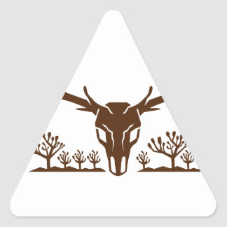 Mule Deer Skull Joshua Tree Icon Triangle Sticker