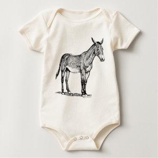 Mule Drawing, Stubborn Baby Bodysuit