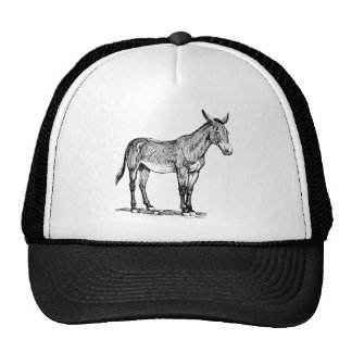 Mule Drawing, Stubborn Trucker Hat