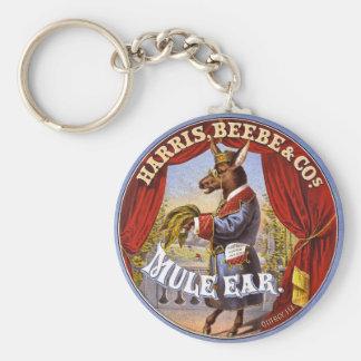 Mule Ear Tobacco Ad Vintage 1868 Keychain