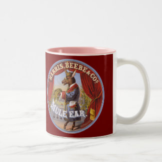 Mule Ear Tobacco Label Two-Tone Coffee Mug