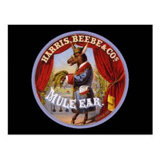 Mule Ear tobacco Postcard