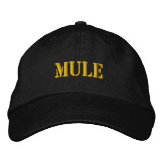 MULES EMBROIDERED BASEBALL CAP