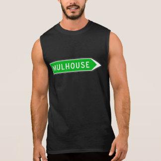 Mulhouse, Road Sign, France Sleeveless Shirt