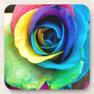 Mulit-Colored Rose by SnapDaddy, can Personalize! Drink Coaster