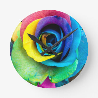 Mulit-Colored Rose by SnapDaddy, can Personalize! Wall Clock
